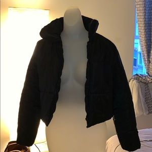 Cropped Black Puffer Jacket